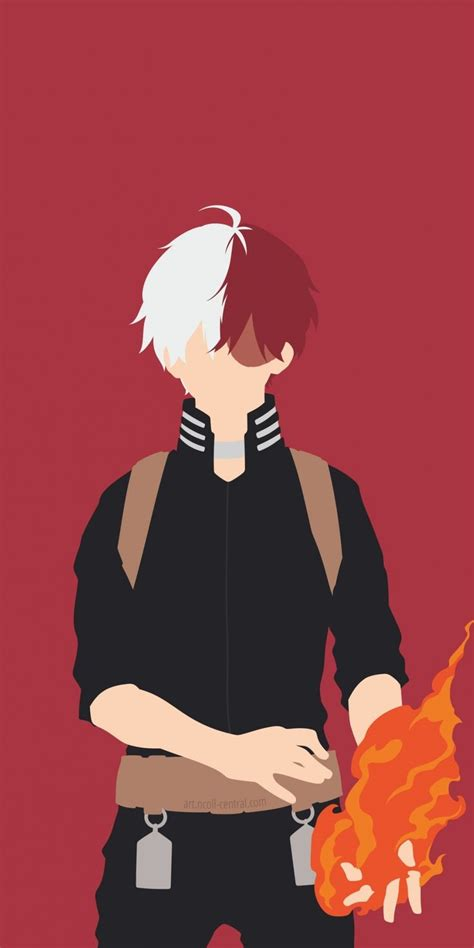 minimal anime boy shoto todoroki anime