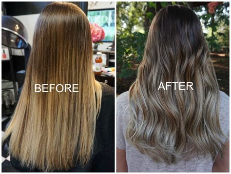 The Diy Ombre Gone Wrong Before And After Balayage