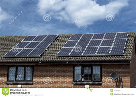solar panels   roof stock images image