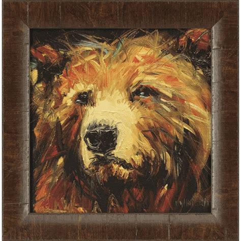 yellowstone bear framed wall art