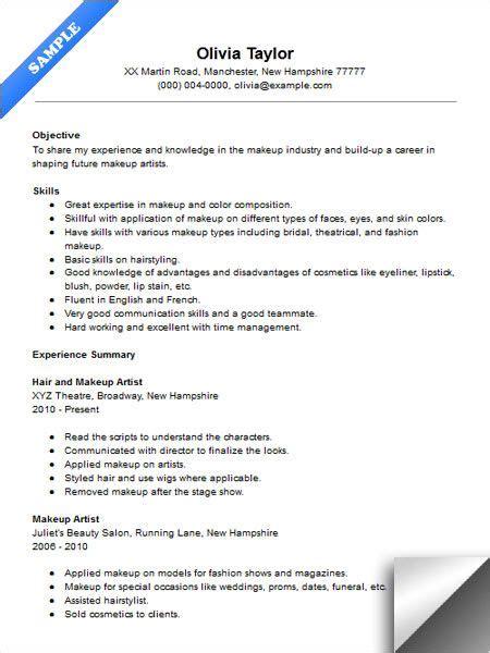 makeup artist instructor resume sample resume examples