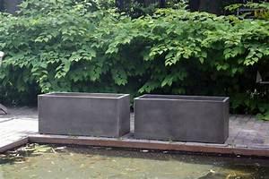 Pflanztröge Beton Rechteckig : 2er set pflanzk bel pflanztrog aus beton maxi 100 terra ~ Sanjose-hotels-ca.com Haus und Dekorationen