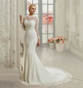 Lace mermaid wedding dress with sleeves naf dresses for Wedding dresses with sleeves cheap