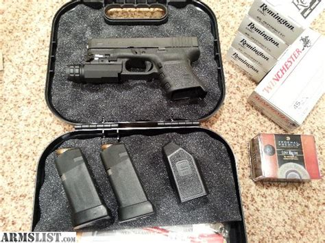 glock 19 strobe light armslist for sale glock 30sf with rail mounted led