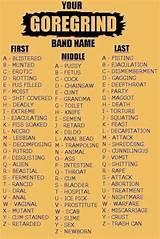Band generator hardcore name