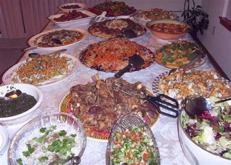 afghan cuisine afghan foods table spread food fruits soups salads