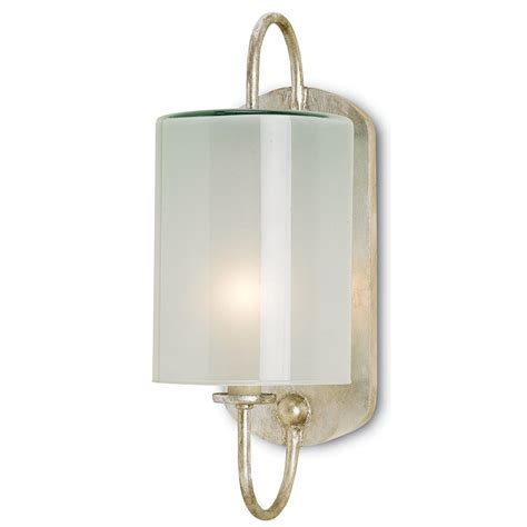 1 light brass and frosted glass wall sconce with l