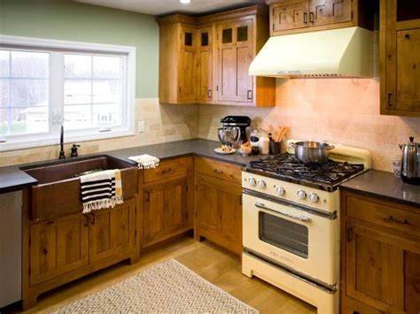 L Shaped Kitchen Design Ideas - rustic kitchen cabinets pictures options tips ideas hgtv