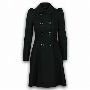 Ladies Coat Womens Wool Look Office Double Breasted ...