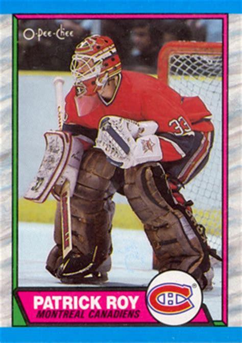 pee chee patrick roy  hockey card  price guide