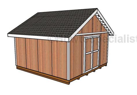 16x16 Gable Shed Plans HowToSpecialist How to Build