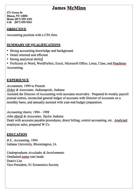 Resume Deans List Exle by Resume Sle For Accountant Resumes Design