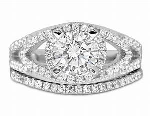 designer 2 carat round diamond wedding ring set in white With 2 carat diamond wedding ring set