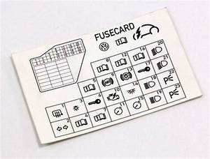 Dash Fuse Box Diagram Card 98-10 Vw Beetle - Genuine