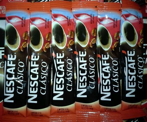 Nescafe gold latte cappuccino instant coffee various. 100 On-The-Go packets Nescafe Clasico Classic DARK ROAST Instant Coffee | eBay