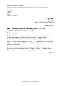 Lettre De Résiliation Assurance Vie by R 233 Siliation Canal Plus Canal Mod 232 Le De Lettre Gratuit