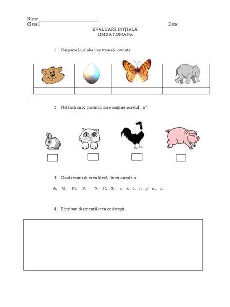 Fise Evaluare Initiala Clasa I