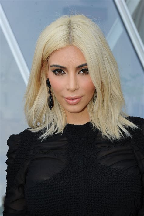 kim kardashians blond hair  products  maintain