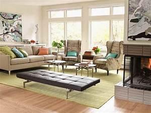 Furniture furniture arrangement in small living room for Mid century modern living room furniture arrangement