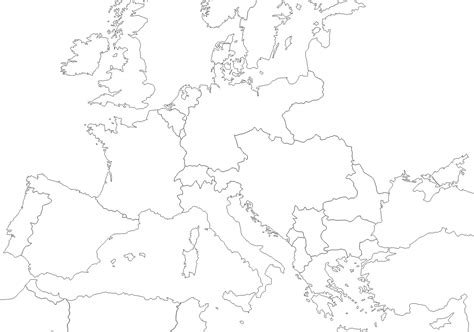europe drawing map  getdrawingscom   personal