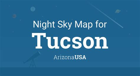 night sky map planets visible tonight  tucson