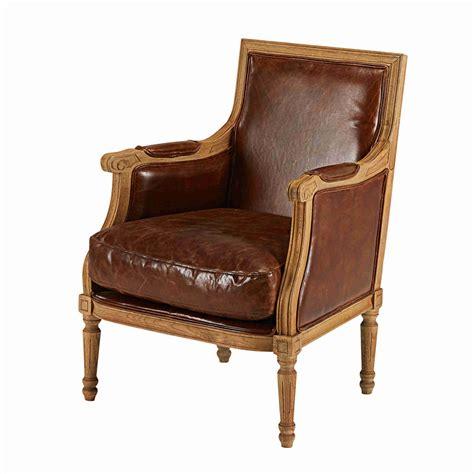 fauteuil en cuir de vachette marron vieilli casanova maisons du monde