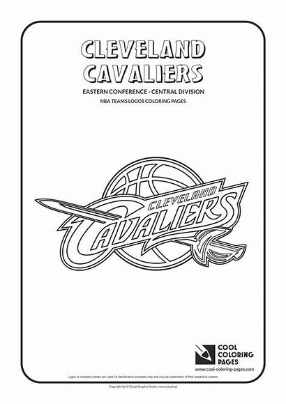 Nba Coloring Pages Logos Basketball Teams Cavaliers