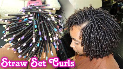 straw set  natural hair style demo video black hair