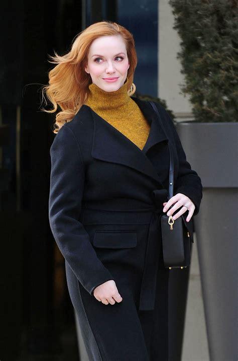 Christina Hendricks Street Style – Out in New York City ...