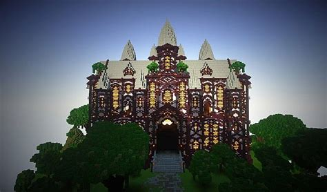 cliff mansion minecraft building