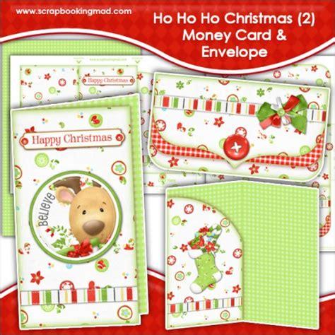 ho ho ho christmas  money card envelope