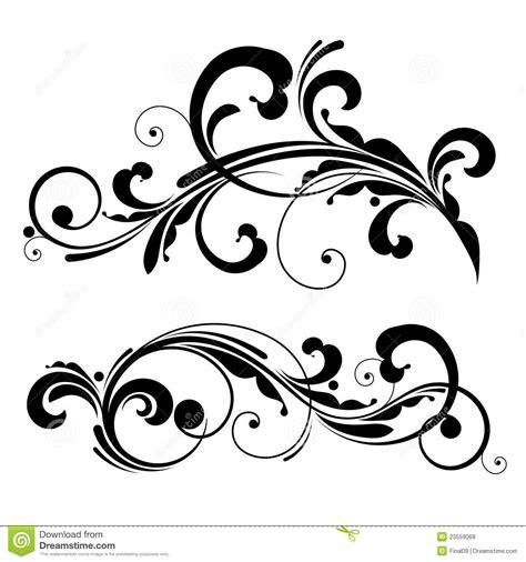 free vector design vector floral design element stock vector illustration