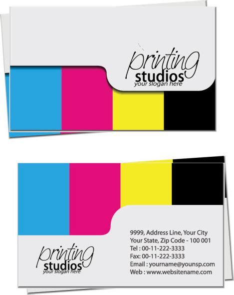 business card cdr template free business card template cdr format free vector