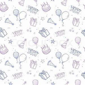 Seamless Birthday Background Stock Vector Colourbox