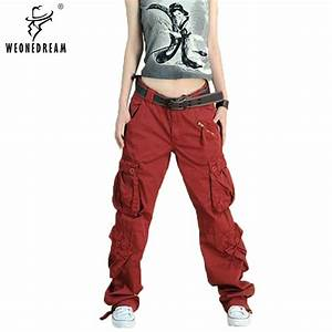 2018 New Arrival 5colors Cargo Pants Women's Overall Hip ...
