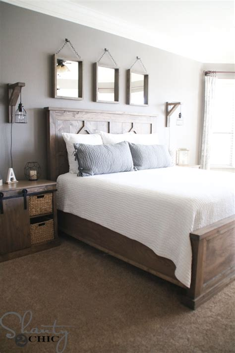 King Bed Decor Ideas by Diy Rustic Modern King Bed Shanty 2 Chic