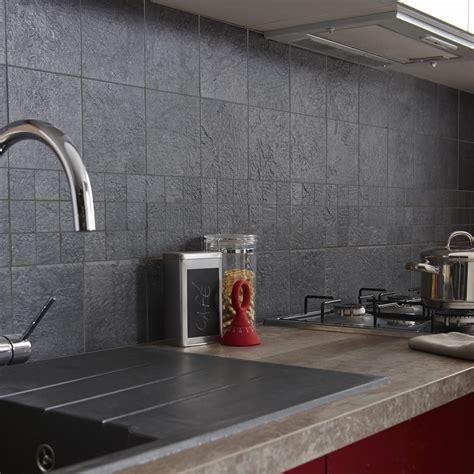 repeindre sa cuisine en noir carrelage sol et mur anthracite vestige l 15 x l 15 cm leroy merlin