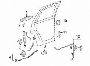 Gmc Yukon Door Wiring Harness  Rear   W  O Premium Audio