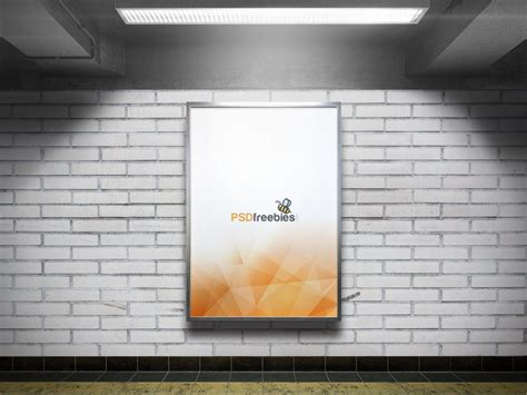 Subway Ad Mockup Subway Advertising Billboard Mockup Mockupworld