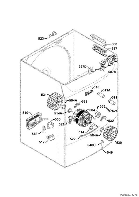 electrolux edp2074pdw 91609692302 tumble dryer electrical equipment spare parts diagram