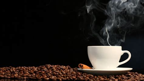 Cup Of Coffee On Black Background Stock Footage Video 939739   Shutterstock