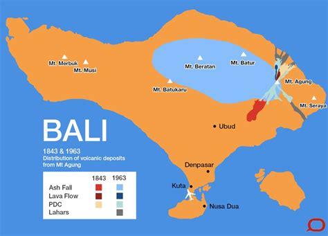 balis agung  volcano forensics  map