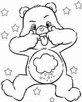 Coloring Bear Grumpy Cartoon sketch template