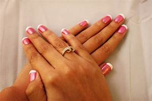 Pink white tip nails - how you can do it at home. Pictures ...