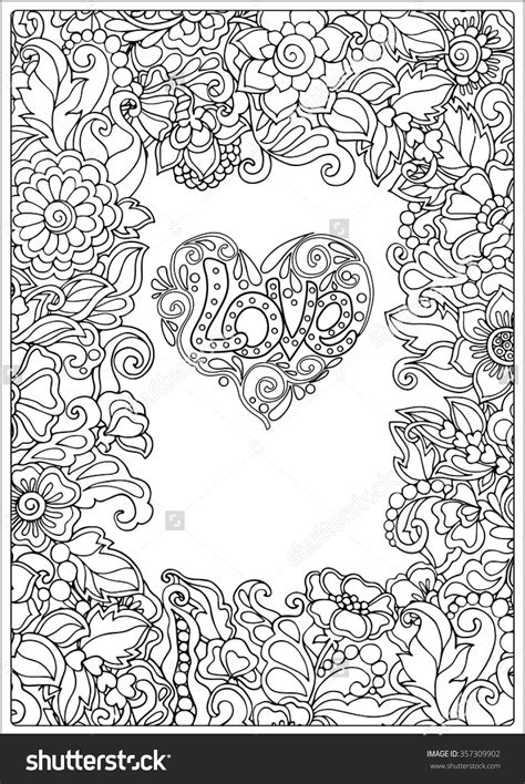 decorative love heart  flowers valentines day card