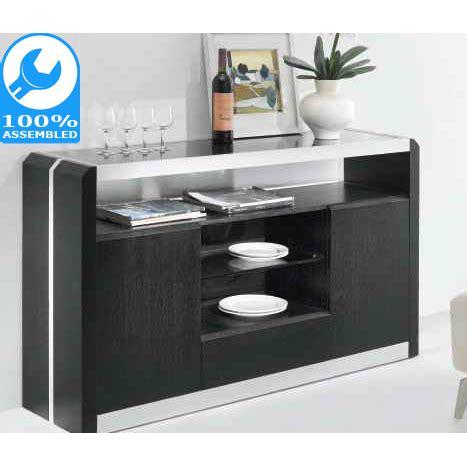Cheap Black Sideboard by Metro Wooden Sideboard Buffet W Glass Top In Black Buy
