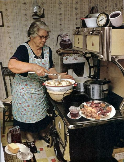 grannys country kitchen cooking supper american country style retro 1306