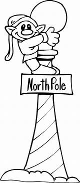 Pole North Coloring Elf Sign Pages Printables sketch template