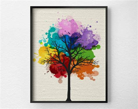 tree wall modern home decor tree print modern