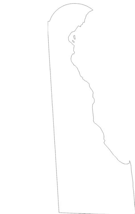 delaware state outline map